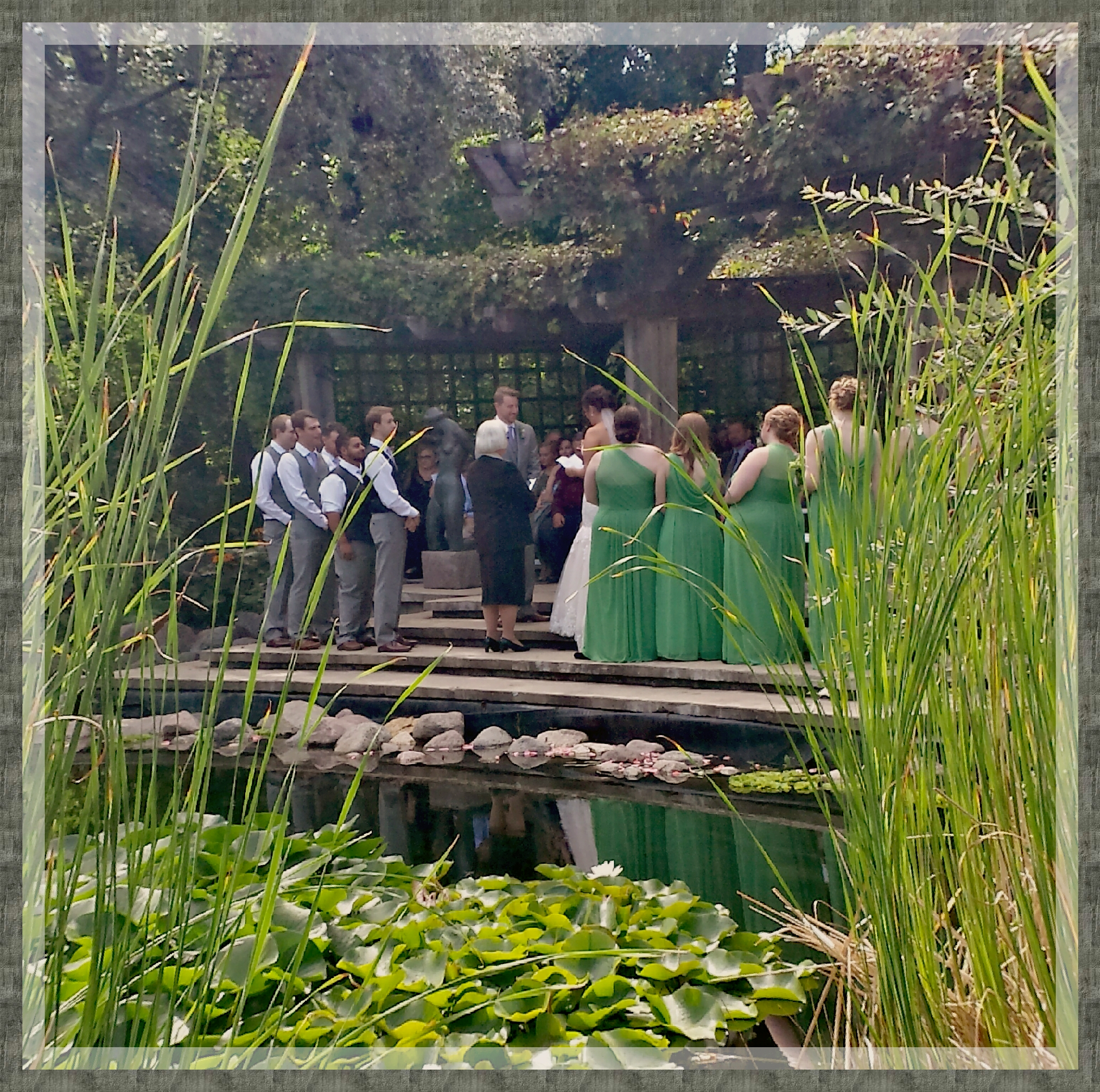 Wedding Ceremony Leo Mol Garden