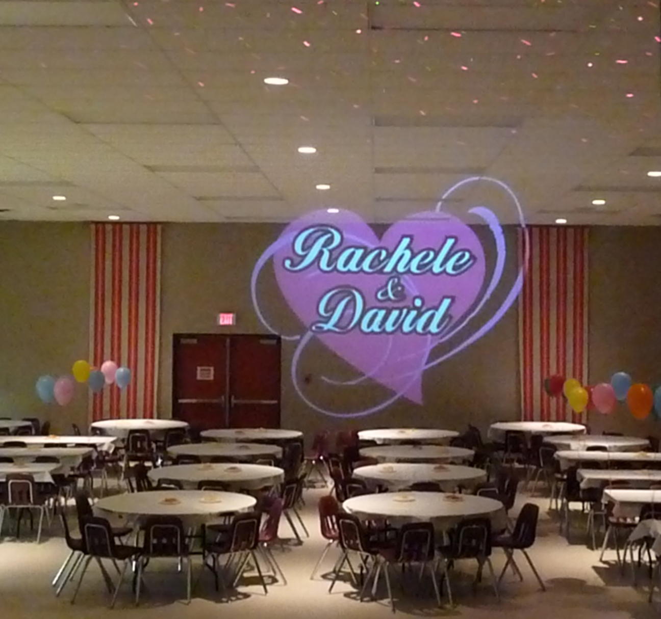 Gobo for a Wedding Social