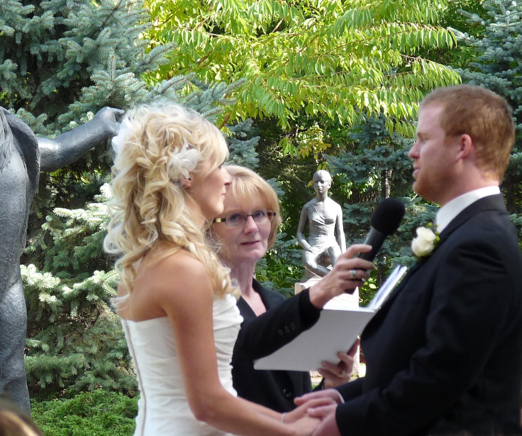 Leo Mol Garden wedding ceremony