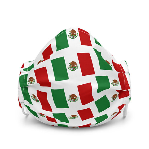 Premium face mask Mexican flag pattern
