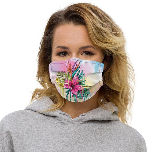 Premium face mask flowers patterns