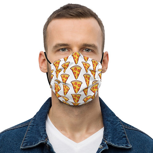 Premium face mask with pizza pattern