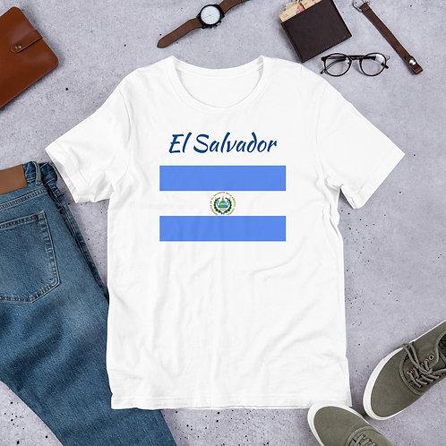 Short-Sleeve Unisex T-Shirt El Salvador Flag