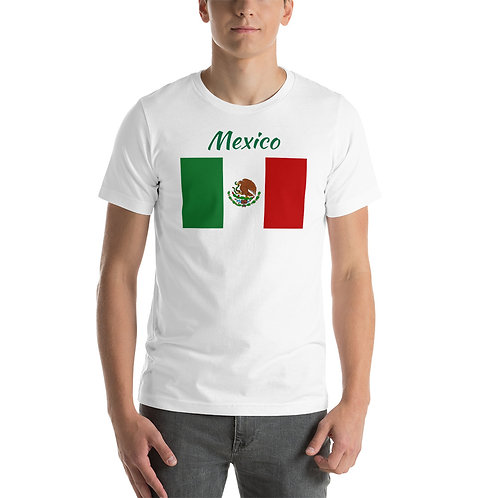 Short-Sleeve Unisex T-Shirt Mexico Flag