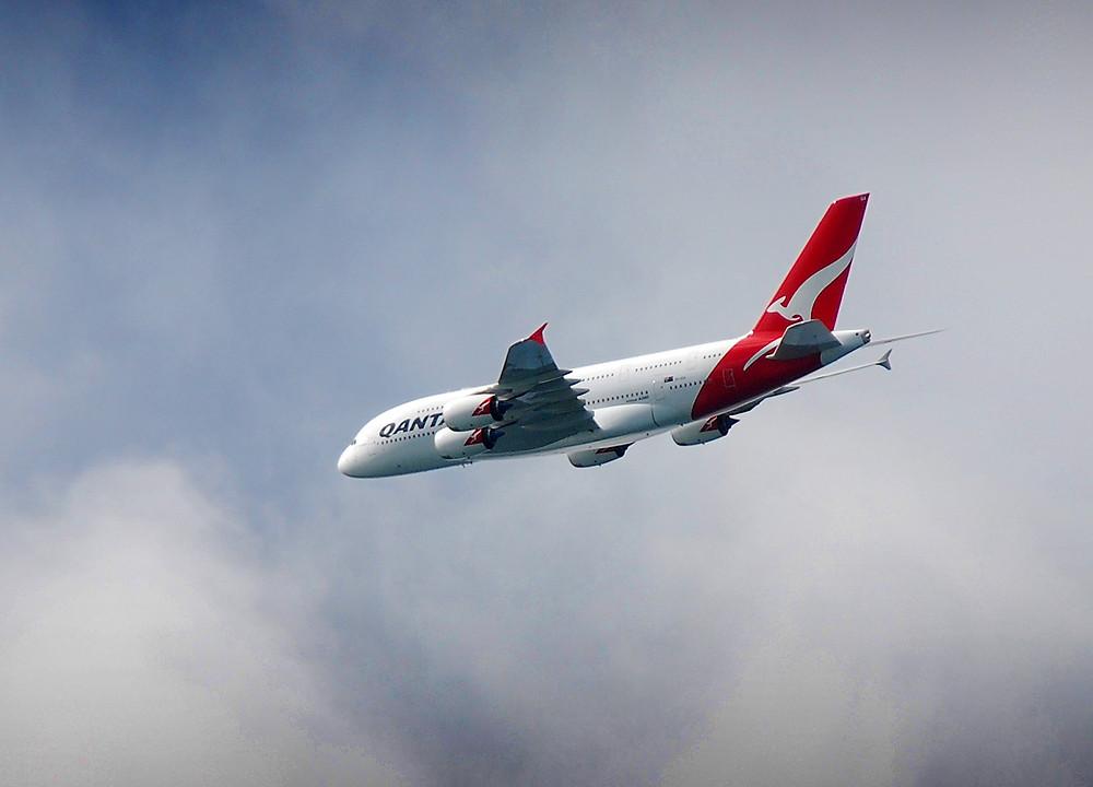 Qantas airplane Australia