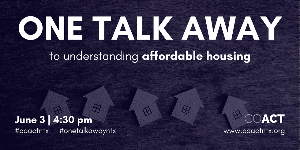 One Talk Away | Affordable Housing
