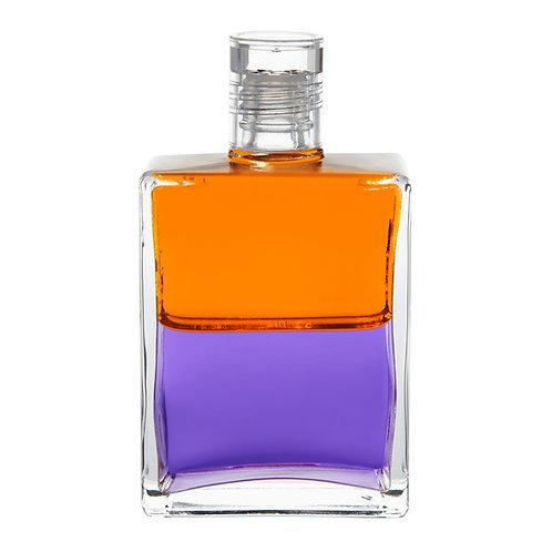 Bottle #79 The Ostrich Bottle - Orange/Violet