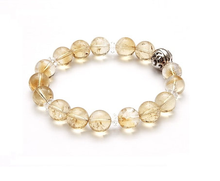 Resonance Bracelet - 3rd Chakra Citrine, with SV925 Energizing Garnet