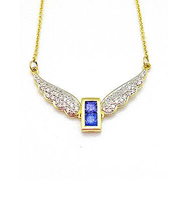 9K Gold Archangel Raphael WingsPendant MFN0005G-96