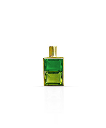 Gold Pendant, Green Onyx & Peridot MC-63
