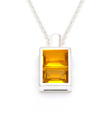The Wisdom Bottle/ El Dorado–Silver Pendant PBL41