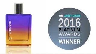 Aura-Soma Pegasus Parfum 39 wins the Janey Loves Platinum Awards Natural Fragrance 2016!!