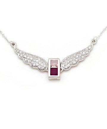 925Silver Archangel Ambriel Wings Pendant MFN0005-110