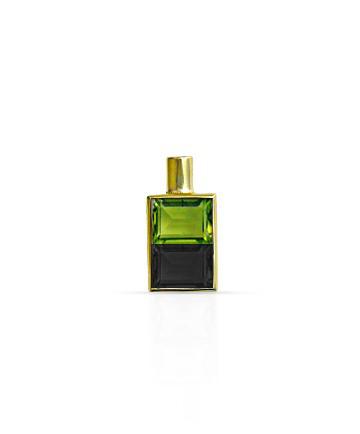 Gold Pendant, Peridot & Black Onyx MC-102