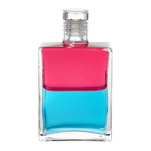 Bottle #75 Go with the Flow - Magenta/Turquoise