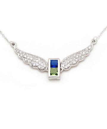 925Silver Archangel Daniel Wings Pendant MFN0005-111