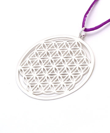 The Flower of Life Silver Pendant with cord SG34