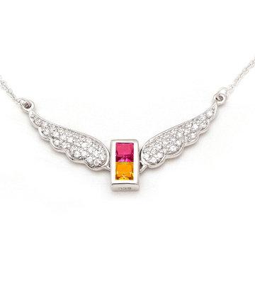 925Silver Archangel Gabriel Wings Pendant MFN0005-95