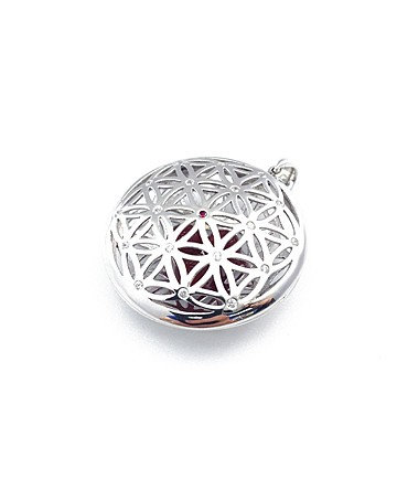 Silver Flower Of Life Energizer Pendant MFP0012