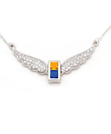 925Silver Archangel Uriel Wings Pendant MFN0005-97