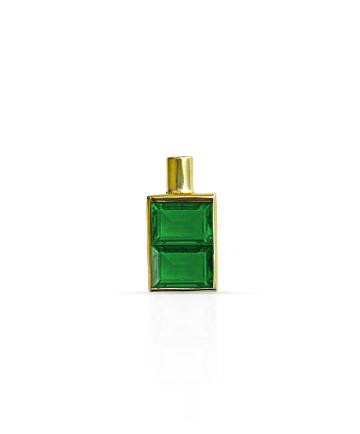 Gold Pendant, Green Onyx MC-10