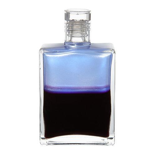 Bottle #103 Archangel Haniel - Opalescent Pale Blue/Deep Magenta