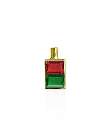 Gold Pendant, Garnet & Green Onyx MC-27
