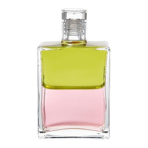 Bottle #99 Archangel Tzadkiel, Cosmic Rabbits - Pale Olive/Pink