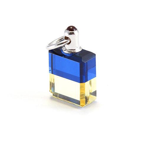 IRIS #47 The Old Soul bottle - Royal Blue/Lemon