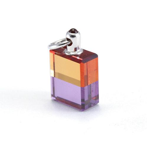 IRIS #79 The Ostrich Bottle - Orange/Violet