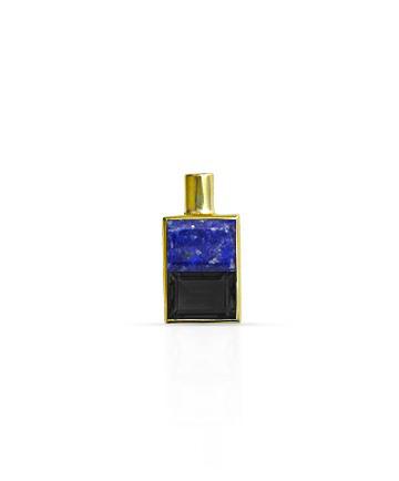 Gold Pendant, Lapis Lazuli & Black Onyx MC-0