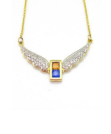 9K Gold Archangel Uriel WingsPendant MFN0005G-97