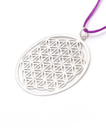 The Flower of Life SilverPendant with cord &...