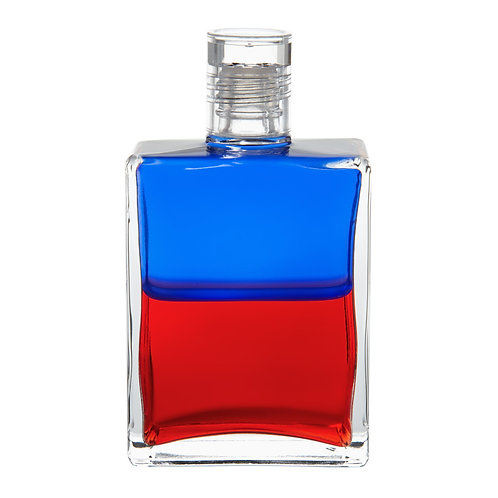 Bottle #30 Bringing Heaven to Earth - Blue/Red
