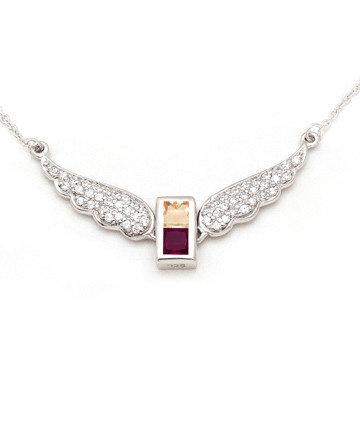 925Silver Archangel Raguel Wings Pendant MFN0005-114