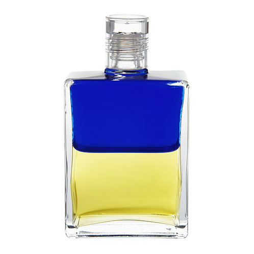 Bottle #47 The Old Soul bottle - Royal Blue/Lemon