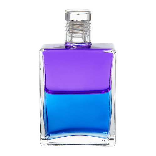 Bottle #37 The Guardian Angel comes to Earth - Violet/Blue