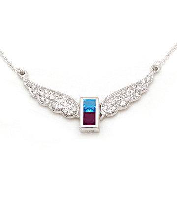 925Silver Archangel Tzaphkiel Wings Pendant MFN0005-107