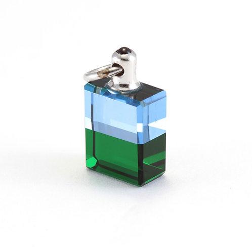 IRIS #03 Heart Bottle, Atlantean Bottle - Blue/Green