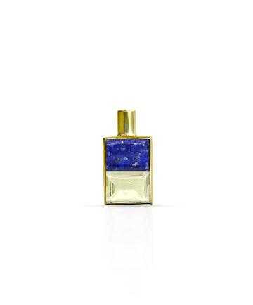 Gold Pendant, Lapis Lazuli & Lemon Topaz MC-47