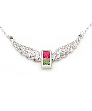 925Silver Archangel Zachariel Wings Pendant MFN0005-109