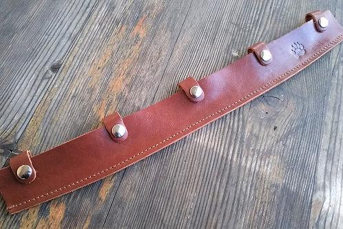 Leather sheath for drawknife