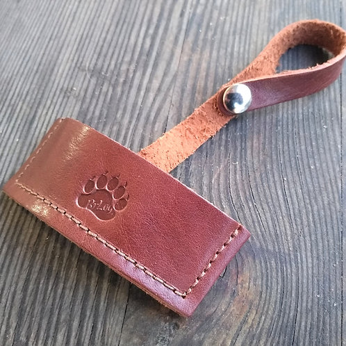 Leather sheath for adze