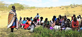 Maasai women meet in Kitengela