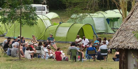 Britis studets camp at the Acacia Moyo/TWF Campus in Kitengela, Kenya