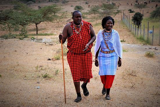Chief Nickson Parmisa and wife Lilian, Kitengela