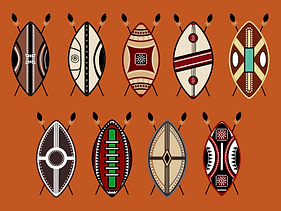Maasai shields decorative art
