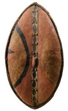 Traditional Maasai shield