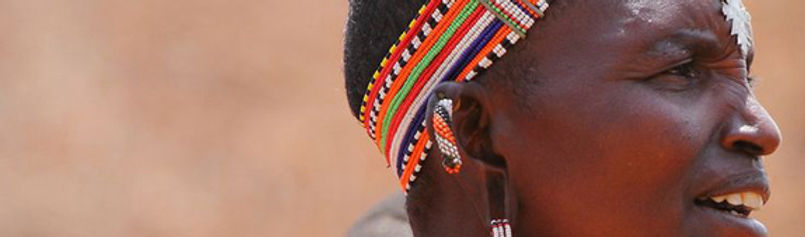 Massai woman in Kitengela wears traditinal beadwork