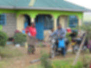 Benson Parmisa has built hisfamily a small house in Kitengela